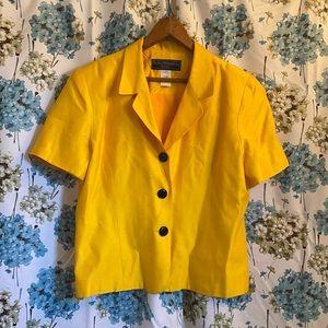 Gorgeous vintage yellow petite power blouse